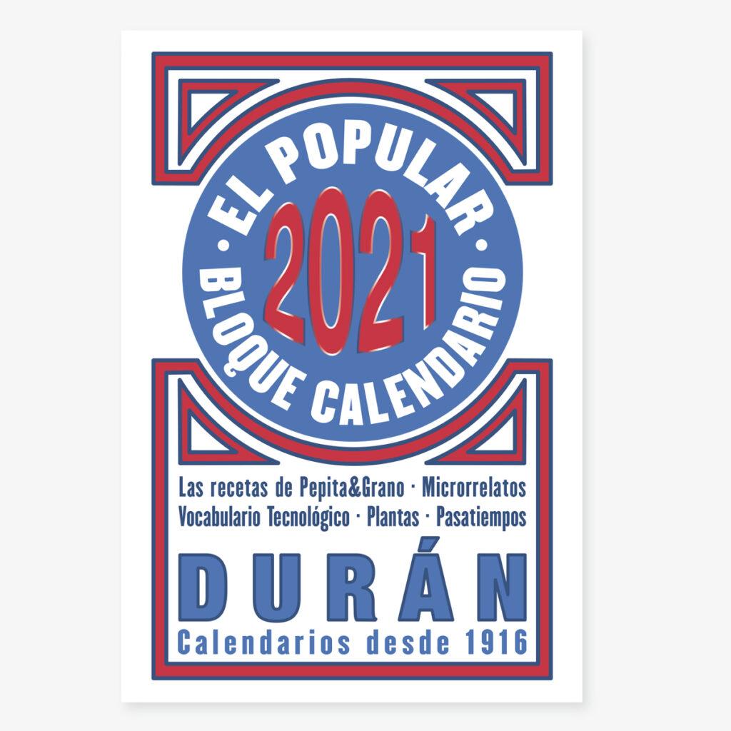Calendario Duran Duran 2021 Calendario DURÁN | Productos