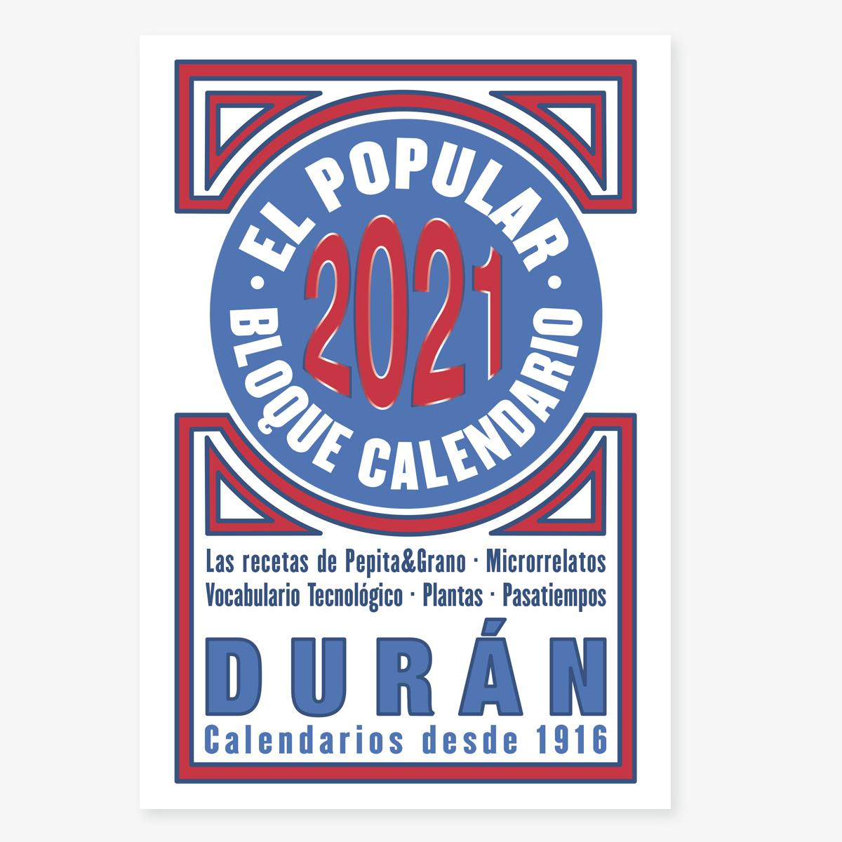 Calendario Duran Duran 2021 Calendario DURÁN | Calendario Durán 2021
